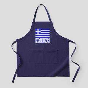 Greek Flag & Hellas Apron (dark)