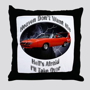 Plymouth Superbird Throw Pillow
