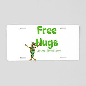 Free Hugs Aluminum License Plate