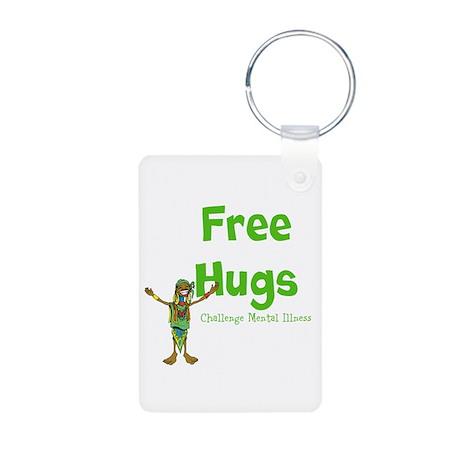 Free Hugs Aluminum Photo Keychain