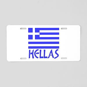 Greek Flag & Hellas Aluminum License Plate