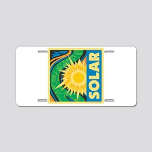 Solar Energy Aluminum License Plate