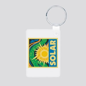 Solar Energy Aluminum Photo Keychain