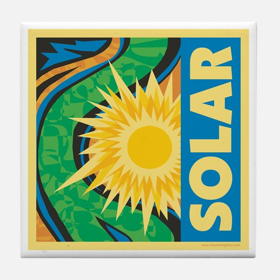 Solar Energy Tile Coaster