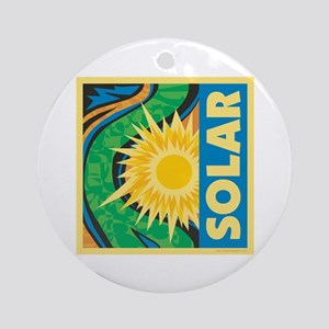 Solar Energy Ornament (Round)