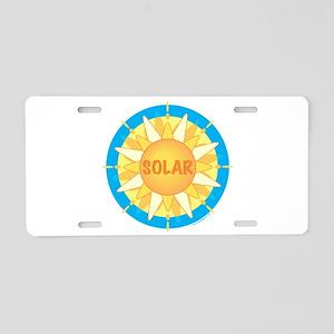 Solar Sun Aluminum License Plate