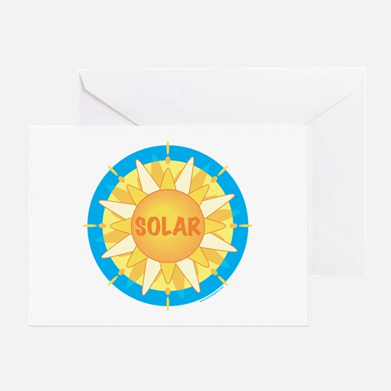 Solar Sun Greeting Card