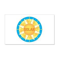 Solar Sun 22x14 Wall Peel