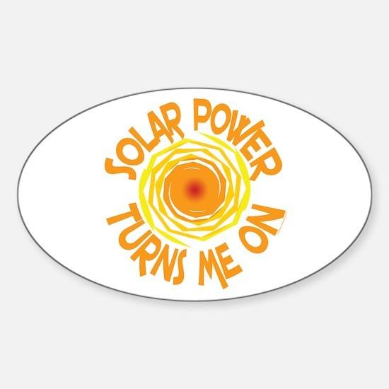 Solar Energy Sticker (Oval)