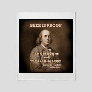 Ben on Beer Throw Blanket
