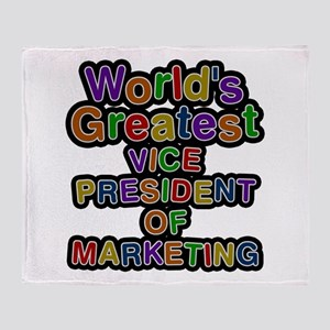 World's Greatest VICE PRESIDENT OF MARKETING Throw
