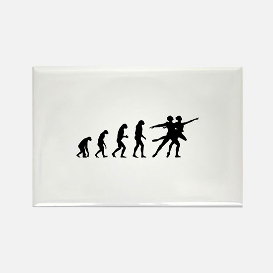 Evolution ballet Rectangle Magnet