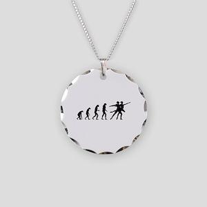 Evolution ballet Necklace Circle Charm