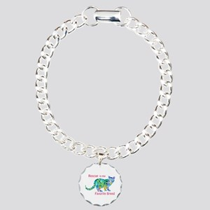 RESCUE is Favorite Breed CATS Charm Bracelet, One