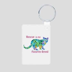 RESCUE is Favorite Breed Colors Aluminum Photo Key