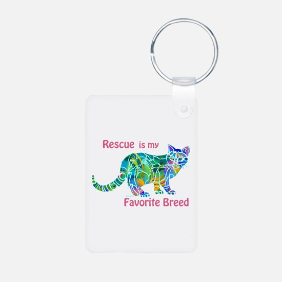 RESCUE is Favorite Breed Colors Keychains