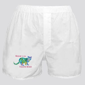 RESCUE is Favorite Breed CATS Boxer Shorts