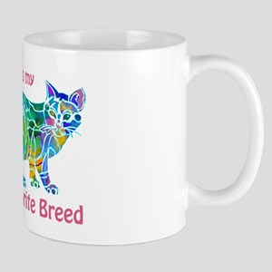 RESCUE is Favorite Breed CATS Mug