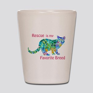 RESCUE is Favorite Breed CATS Shot Glass