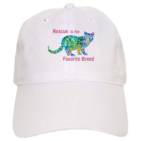 RESCUE is Favorite Breed CATS Cap