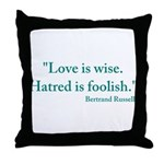Love is wise Throw Pillow