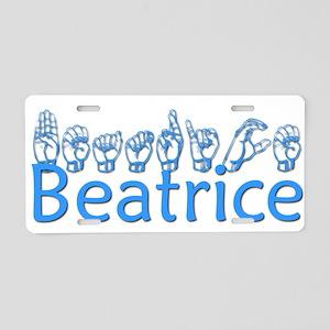 Beatrice Aluminum License Plate