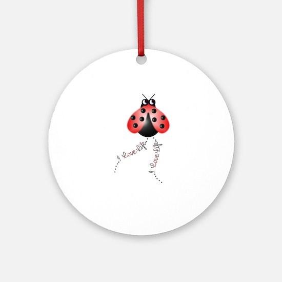 Ladybird Trails 1 Ornament (Round)