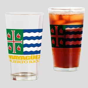 Mayaguez Flag Drinking Glass