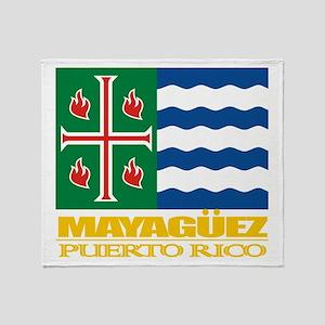 Mayaguez Flag Throw Blanket