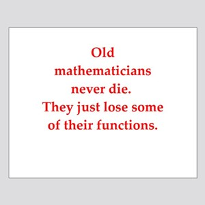 funny math joke Small Poster