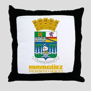 Mayaguez COA Throw Pillow
