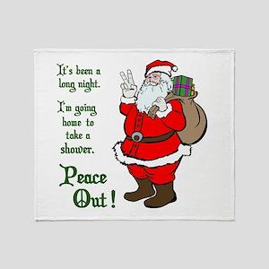 Peace Out Santa Throw Blanket