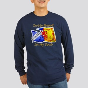 Scotland in my heart Long Sleeve Dark T-Shirt