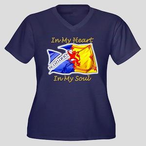 Scotland In My Heart Women's Plus Size T-Shirt