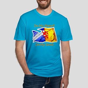 Scotland In My Heart Men's Fitted T-Shirt (dark)