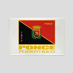Ponce Flag Rectangle Magnet