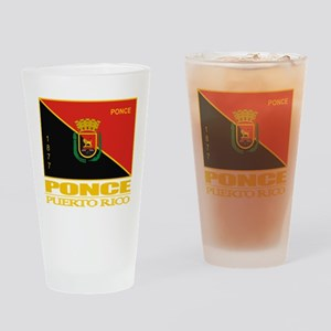 Ponce Flag Drinking Glass