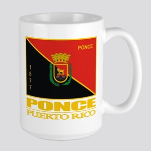 Ponce Flag Large Mug