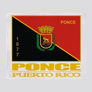 Ponce Flag Throw Blanket