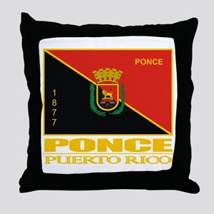 Ponce Flag Throw Pillow