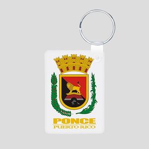 Ponce COA Aluminum Photo Keychain