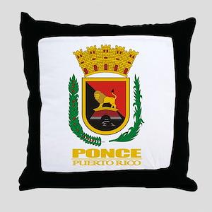 Ponce COA Throw Pillow