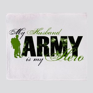 Husband Hero3 - ARMY Throw Blanket