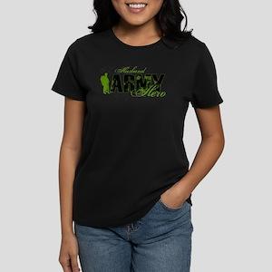 Husband Hero3 - ARMY Women's Dark T-Shirt