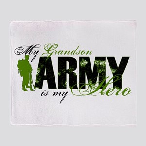 Grandson Hero3 - ARMY Throw Blanket