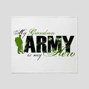 Grandson Hero3 - ARMY Throw Blanket