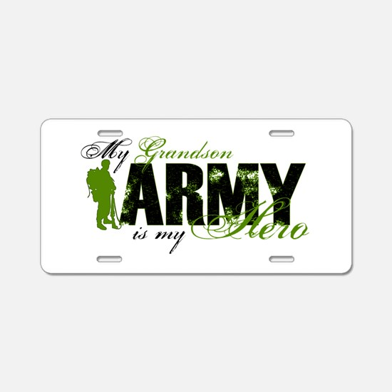 Grandson Hero3 - ARMY Aluminum License Plate