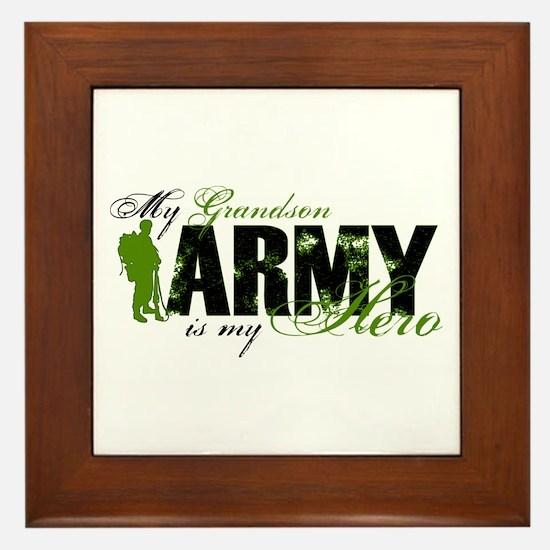 Grandson Hero3 - ARMY Framed Tile