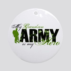Grandson Hero3 - ARMY Ornament (Round)