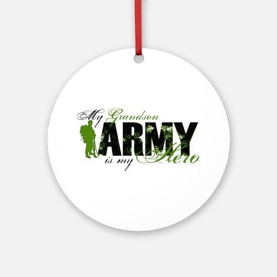 Grandson Hero3 - ARMY Ornament (Round)